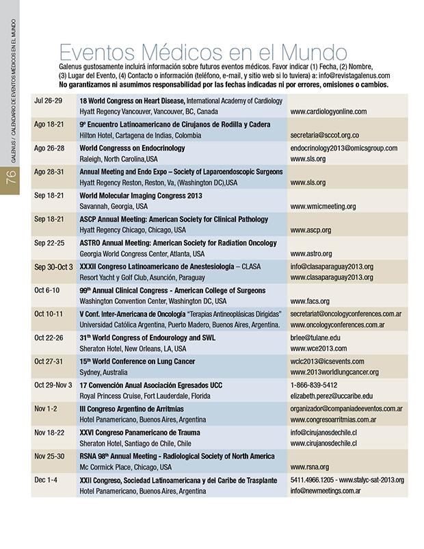 Eventos Médicos