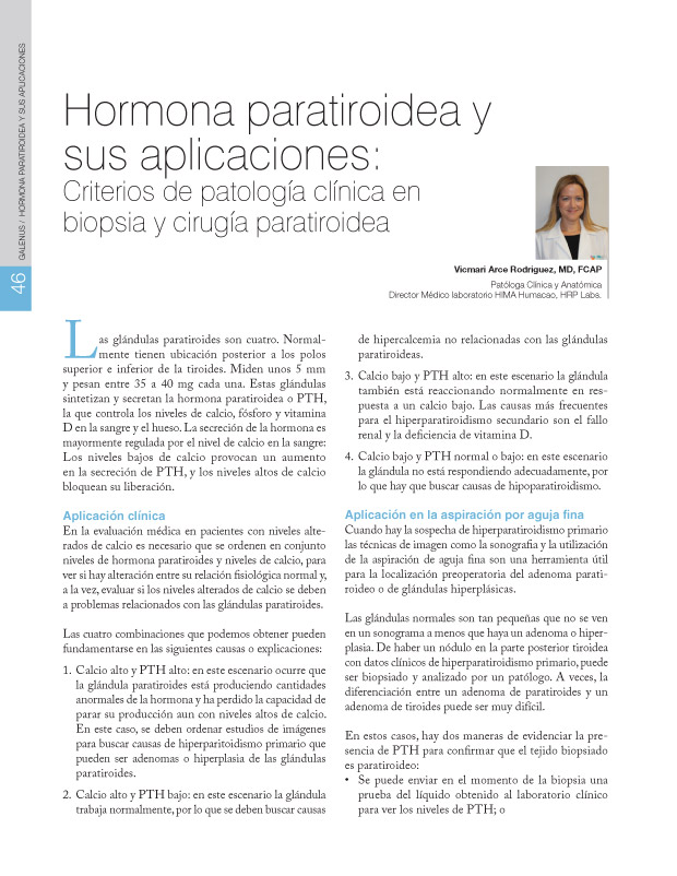 Hormona paratiroidea y sus aplicaciones