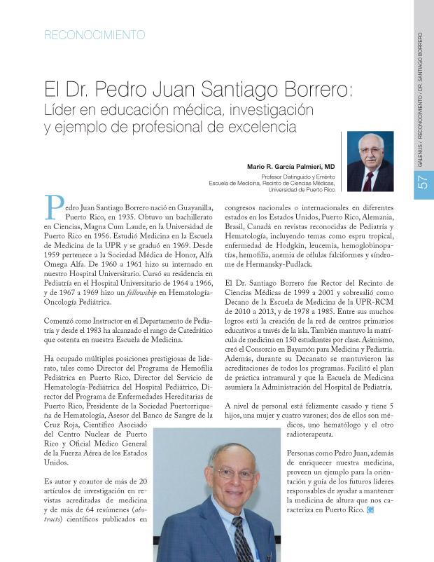 reconocimiento / Dr. Santiago Borrero