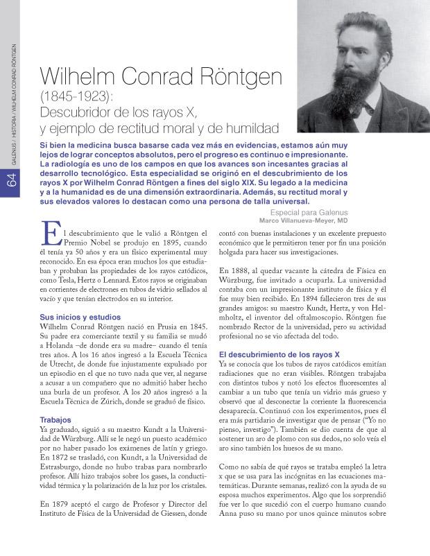 HISTORIA / Wilhelm Conrad Röntgen