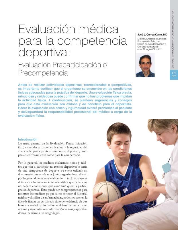 Evaluación para la competencia deportiva