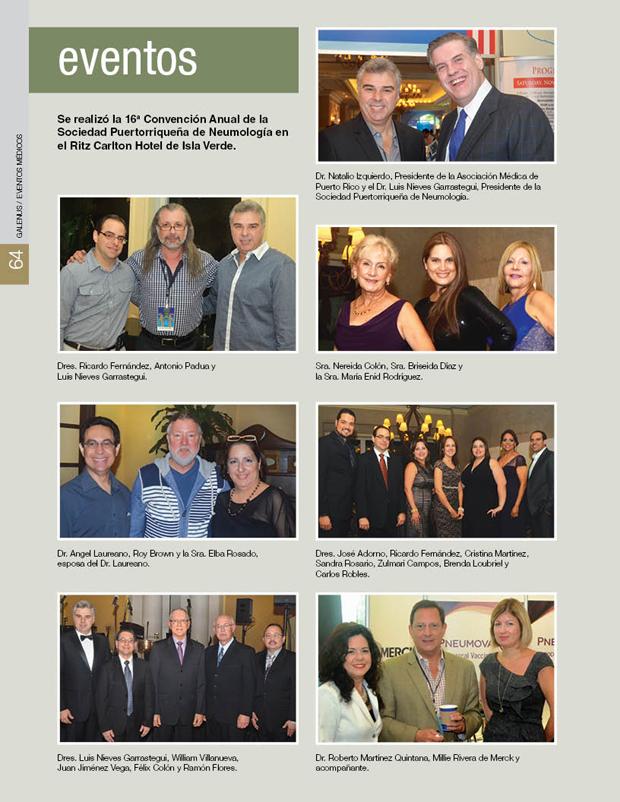 Se realizó la 16a Convención Anual de la Sociedad Puertorriqueña de Neumología en el Ritz Carlton Hotel de Isla Verde.