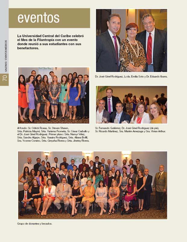 La Universidad Central del Caribe celebró el Mes de la Filantropía con un evento donde reunió a sus estudiantes con sus benefactores.