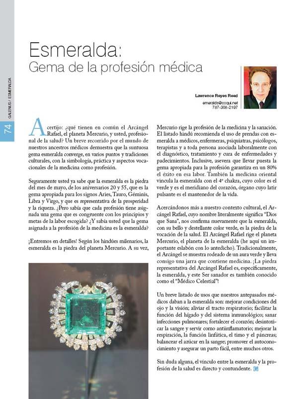 Esmeralda: Gema de la profesión médica