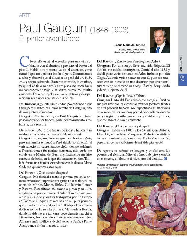 Paul Gauguin (1848-1903):  El pintor aventurero