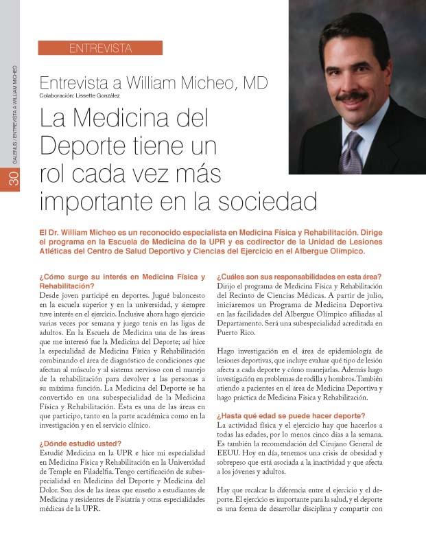 Entrevista a William Micheo, MD
