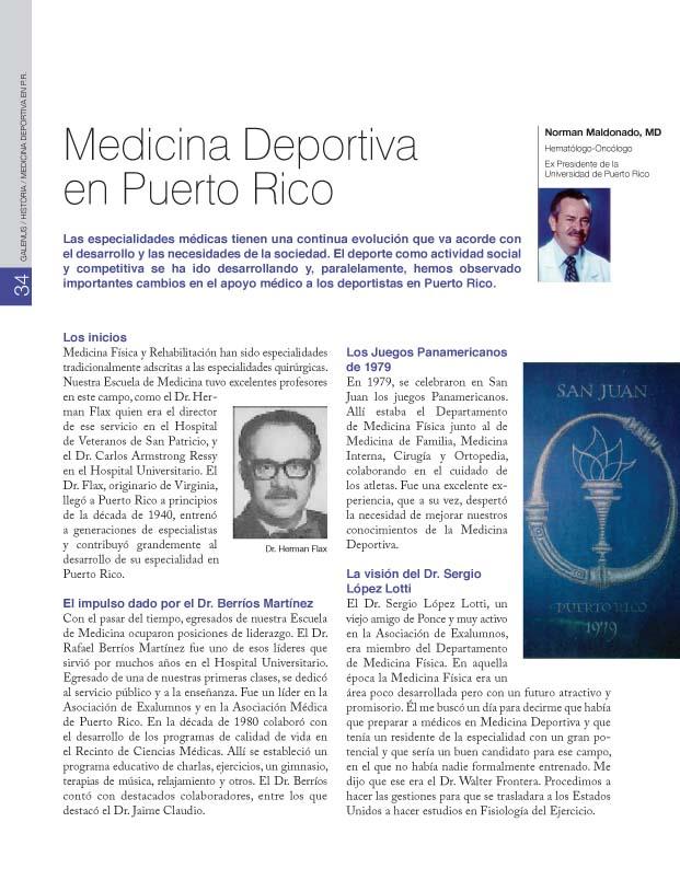 HISTORIA / Medicina Deportiva en P.R.