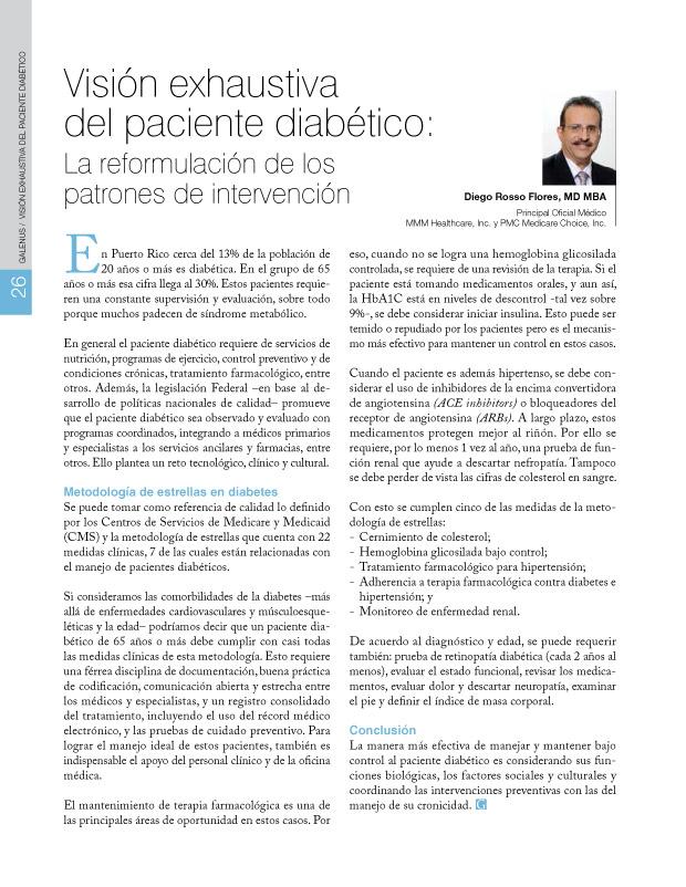 Visión exhaustiva del paciente diabético