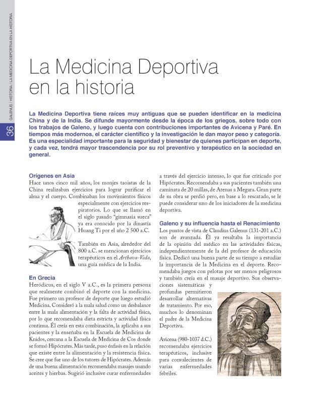 HISTORIA / La Medicina Deportiva en la historia