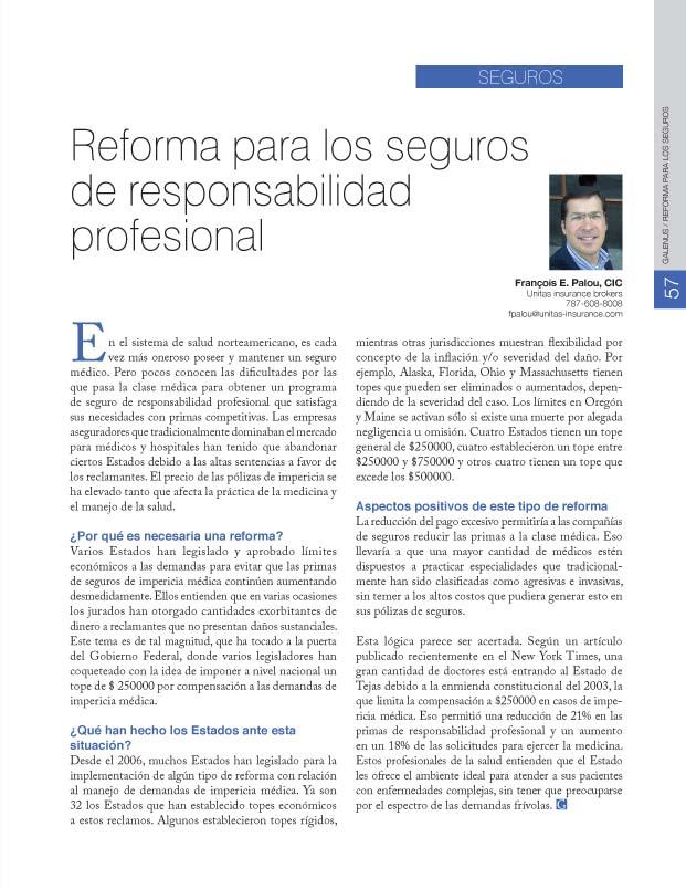 Reforma para los seguros