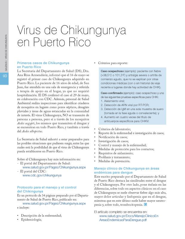 Virus de Chikungunya en Puerto Rico