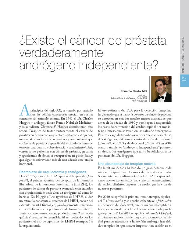 ¿Existe el cáncer de próstata verdaderamente andrógeno independiente?