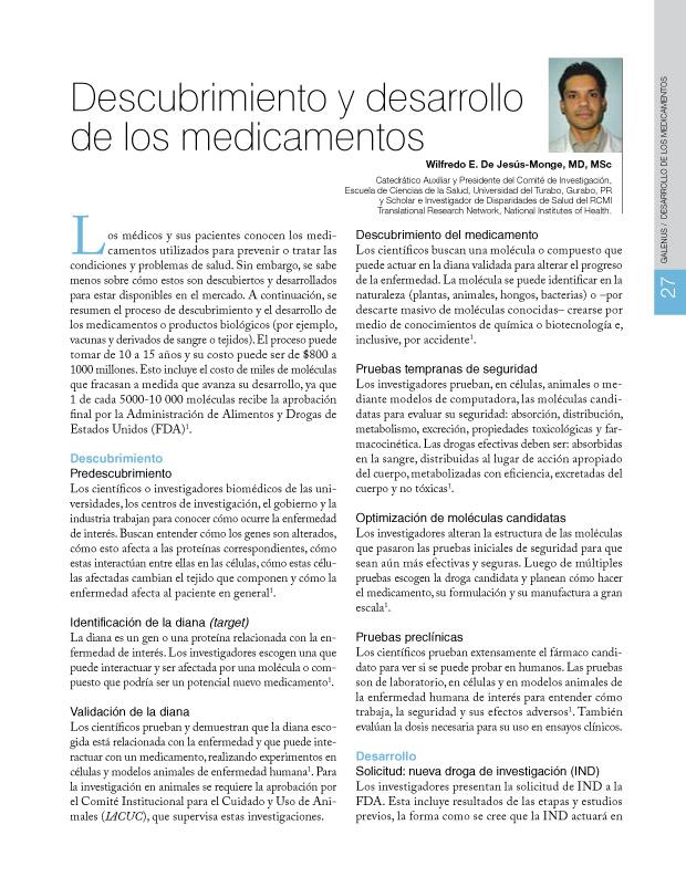 Descubrimiento y desarrollo de los medicamentos