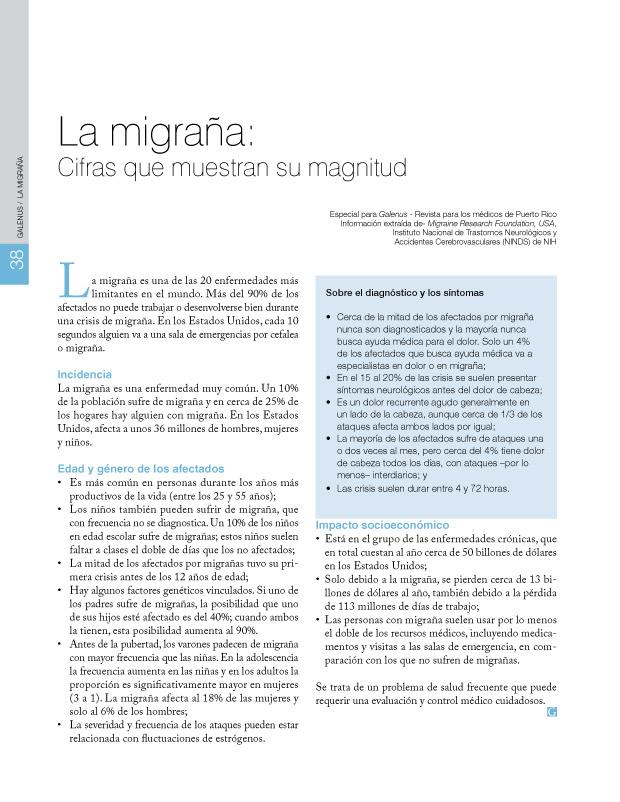 La migraña: Cifras que muestran su magnitud