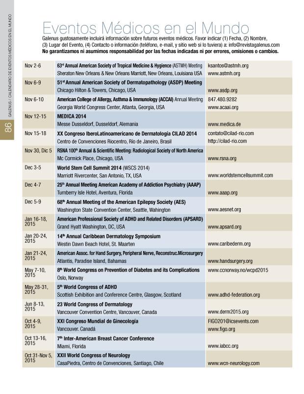 Eventos Médicos del Mundo