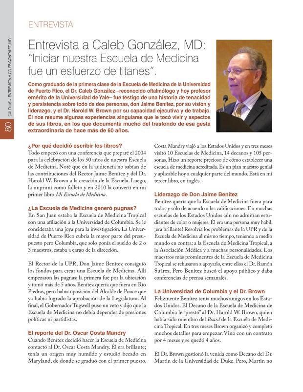 """Entrevista a Caleb González, MD: """"Iniciar nuestra Escuela de Medicina fue un esfuerzo de titanes""""."""