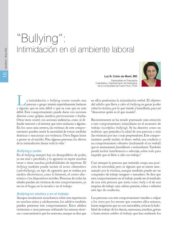 Salud mental: Bullying