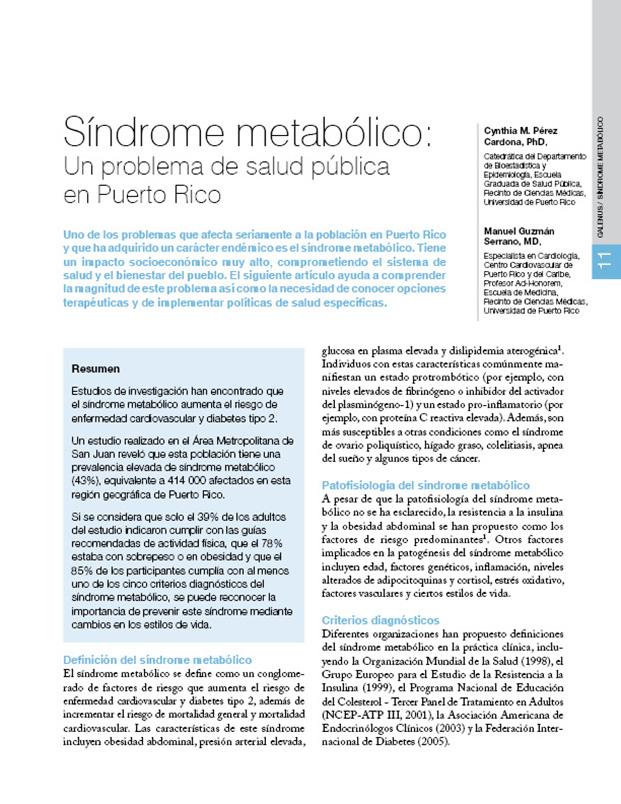 Artículos Médicos: Síndrome metabólico