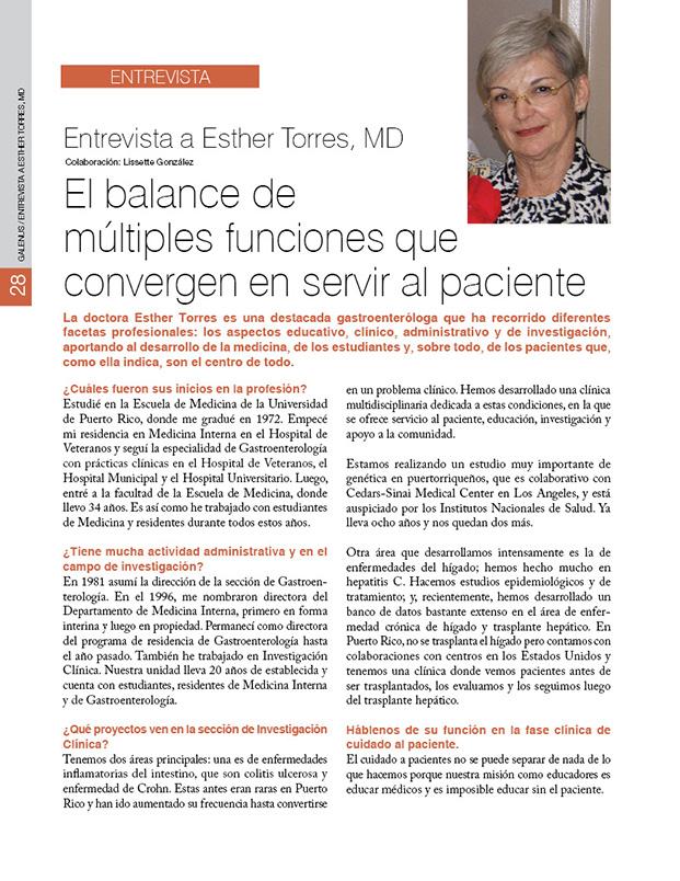 Entrevista a Esther Torres, MD