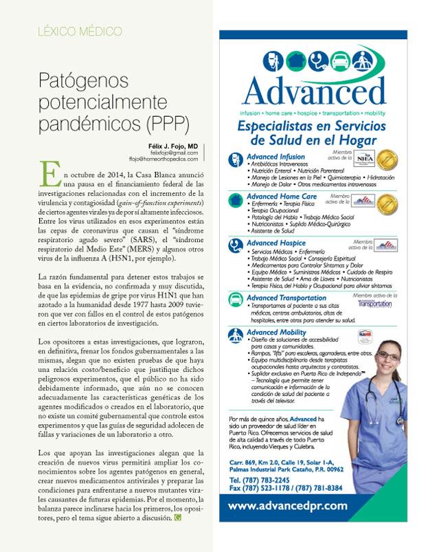 Patógenos potencialmente pandémicos (PPP)