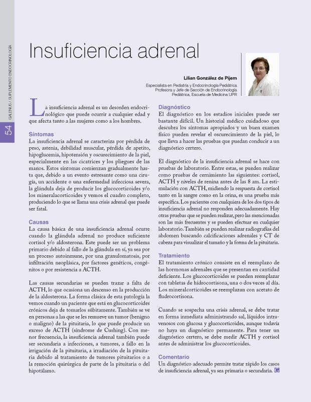 Insuficiencia adrenal