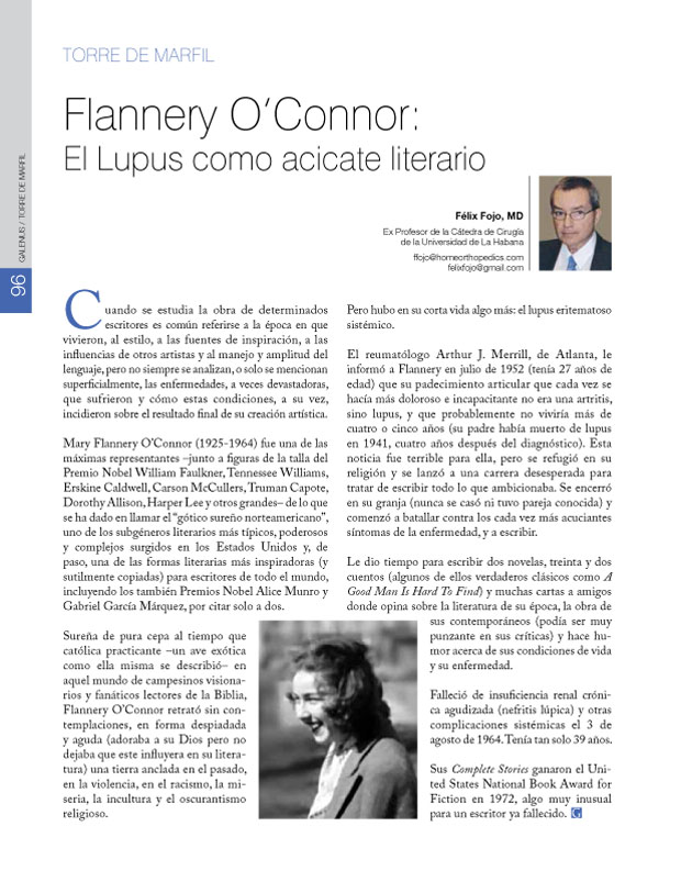 Flannery O'Connor: El Lupus como acicate literario