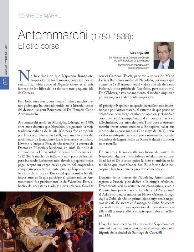 La torre de marfil: Antommarchi
