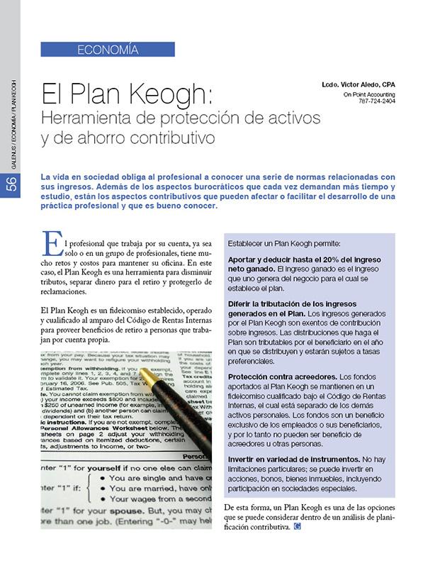 ECONOMÍA: El Plan Keogh