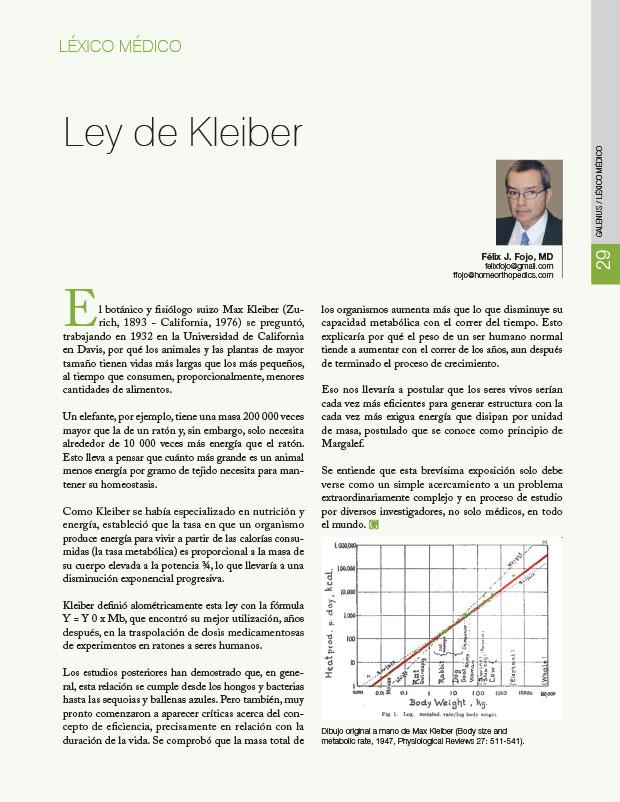 Léxico Médico: Ley de Kleiber