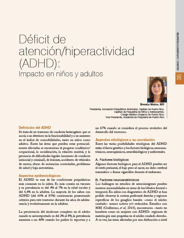 Déficit de atención/hiperactividad (ADHD): Impacto en niños y adultos