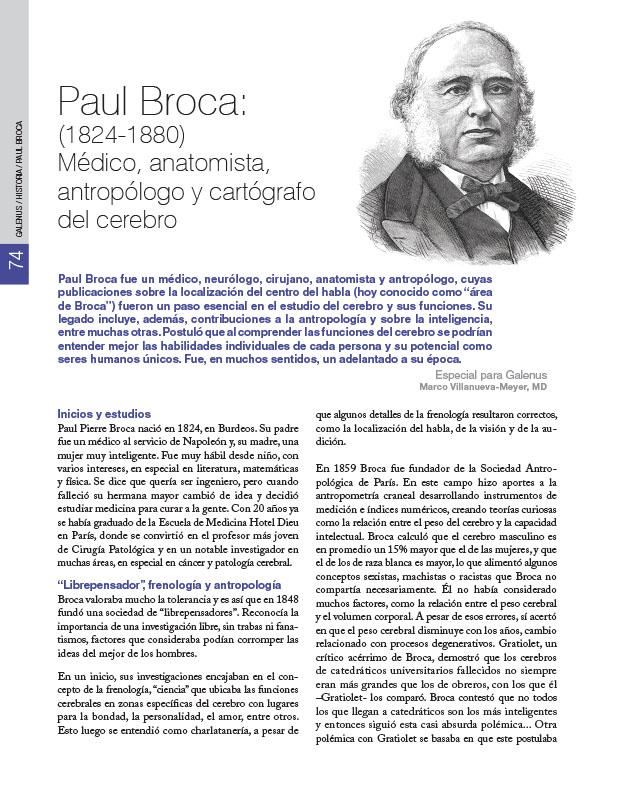 Historia de la Medicina: Paul Broca: (1824-1880) Médico, anatomista, antropólogo y cartógrafo del cerebro