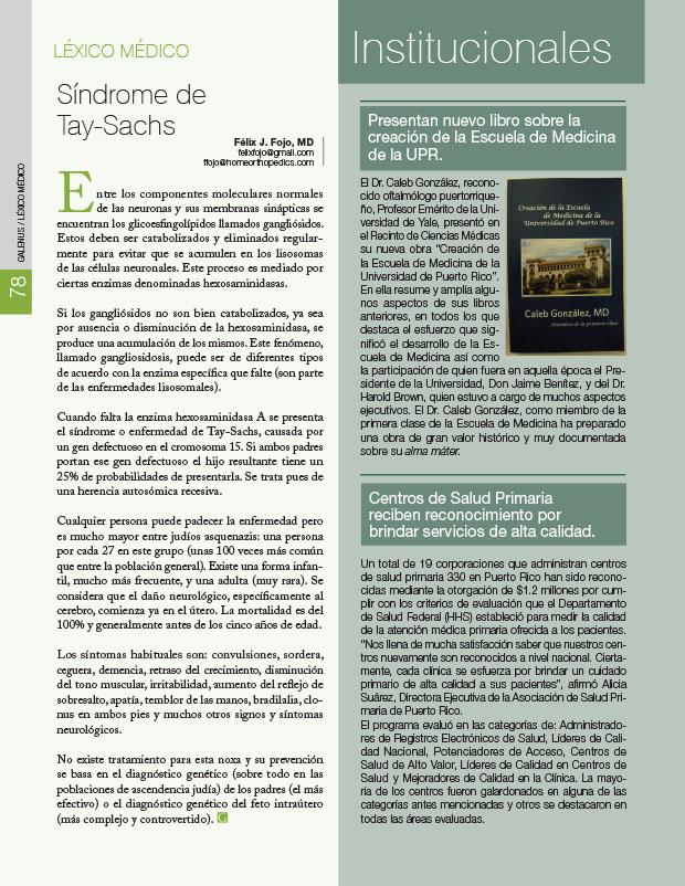 Léxico Médico: Síndrome de Tay-Sachs