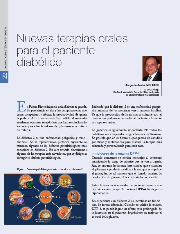 Nuevas terapias orales para el paciente diabético