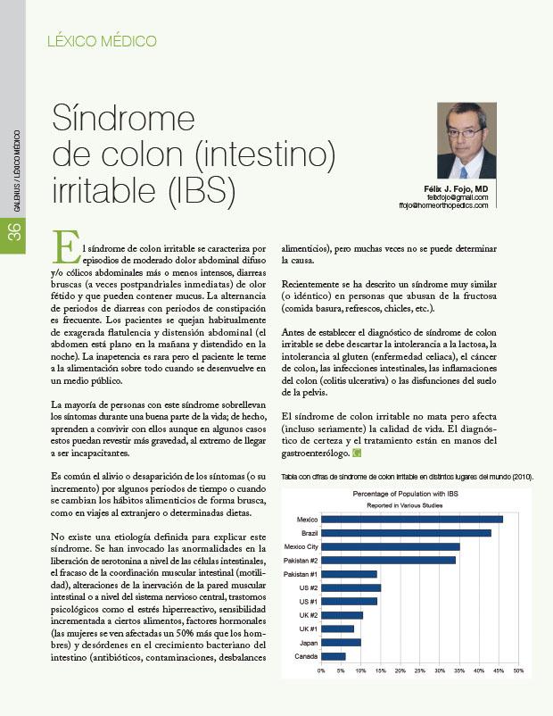 Léxico Médico: Síndrome de colon (intestino) irritable (IBS)