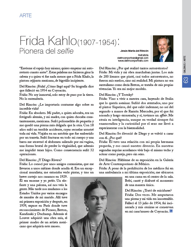 Arte: Frida Kahlo (1907-1954): Pionera del selfie