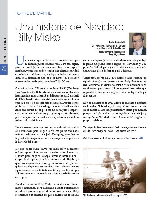 Torre de Marfil: Una historia de Navidad: Billy Miske