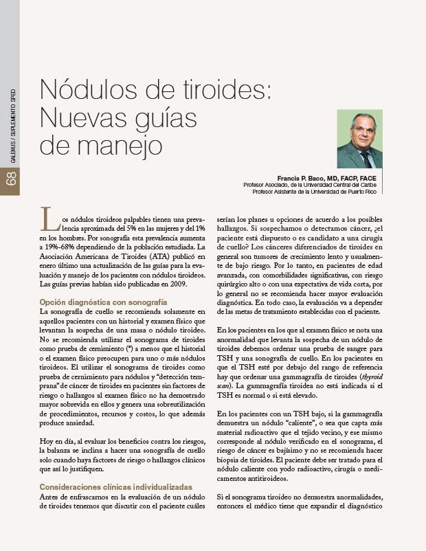 Nódulos de tiroides: Nuevas guías de manejo