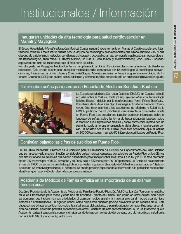 Institucionales: Noticias e información médica