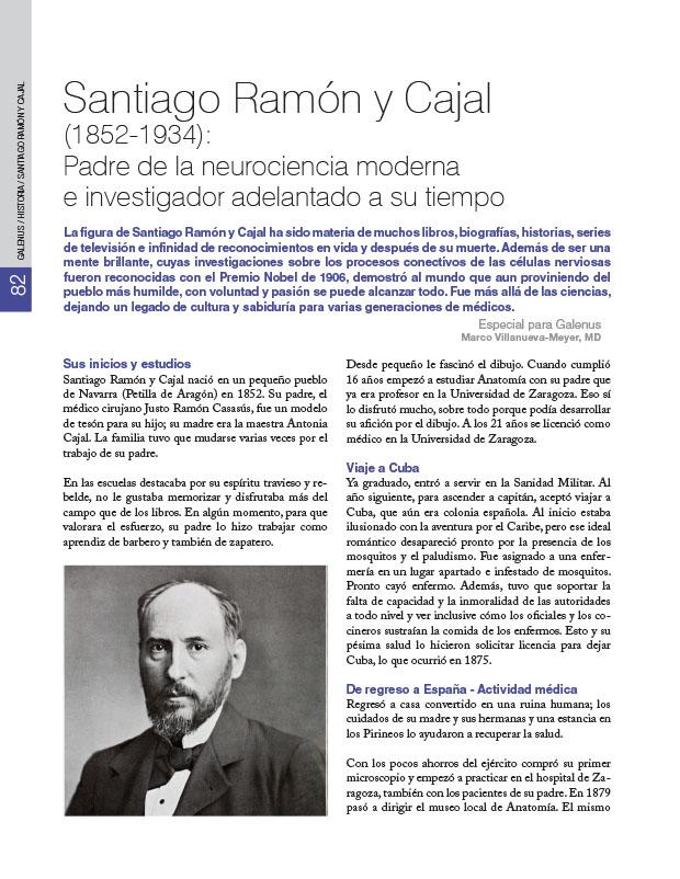 Historia de la Medicina: Santiago Ramón y Cajal (1852-1934): Padre de la neurociencia moderna e investigador adelantado a su tiempo