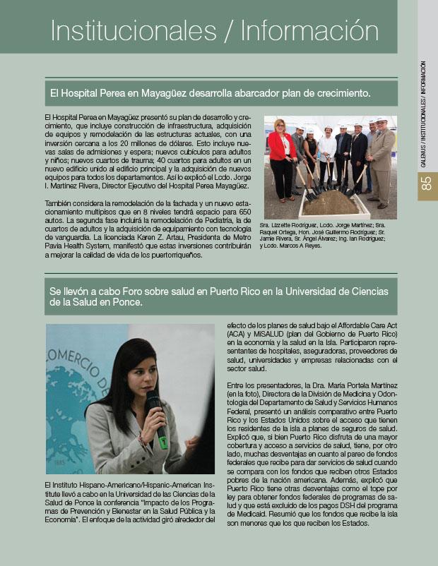 Institucionales 2: Noticias e información médica
