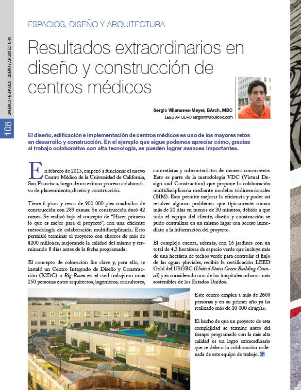 Espacios, Diseño y Arquitectura: Resultados extraordinarios en diseño y construcción de centros médicos