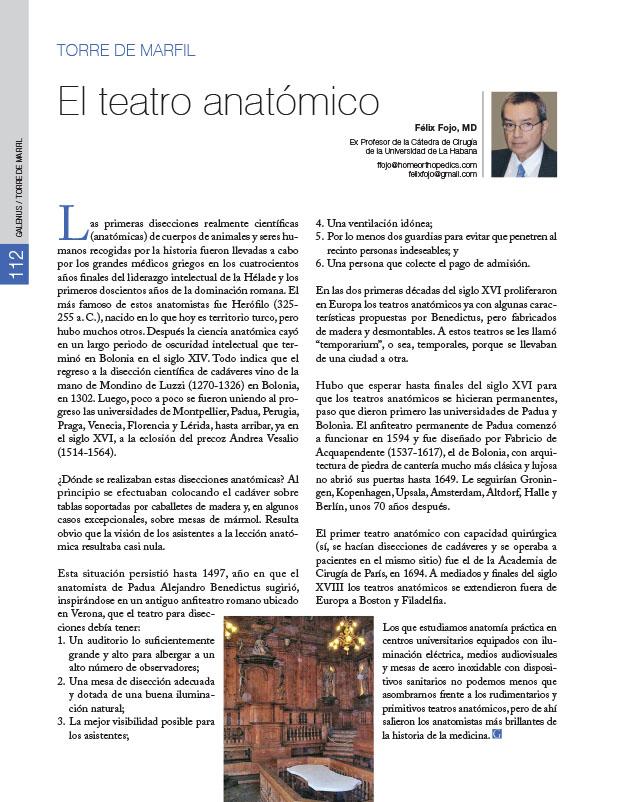 Torre de Marfil: El teatro anatómico