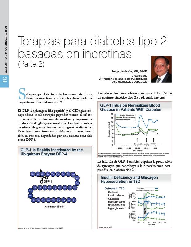 Terapias para diabetes tipo 2 basadas en incretinas (Parte 2)
