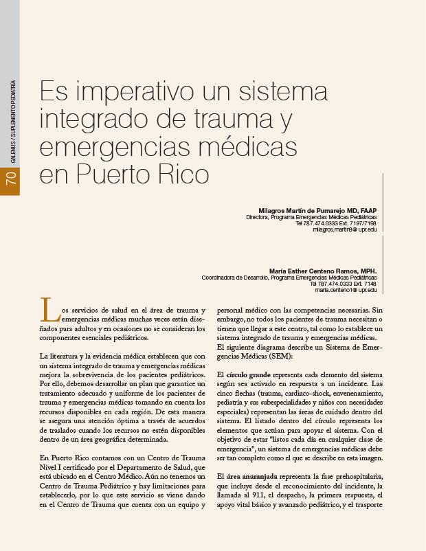 Es imperativo un sistema integrado de trauma y emergencias médicas en Puerto Rico