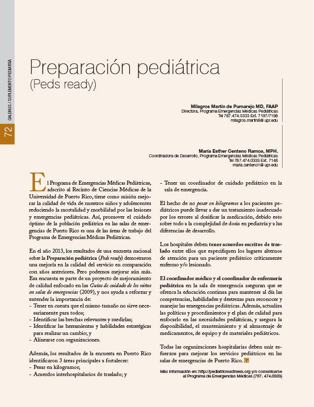 Preparación pediátrica (Peds ready)
