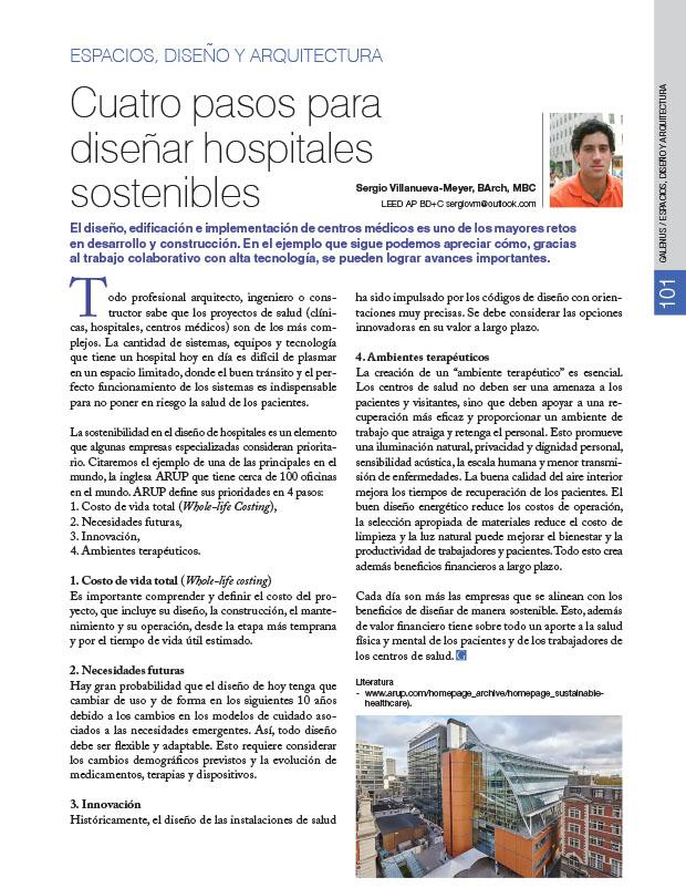 Espacios, Diseño y Arquitectura: Cuatro pasos para diseñar hospitales sostenibles