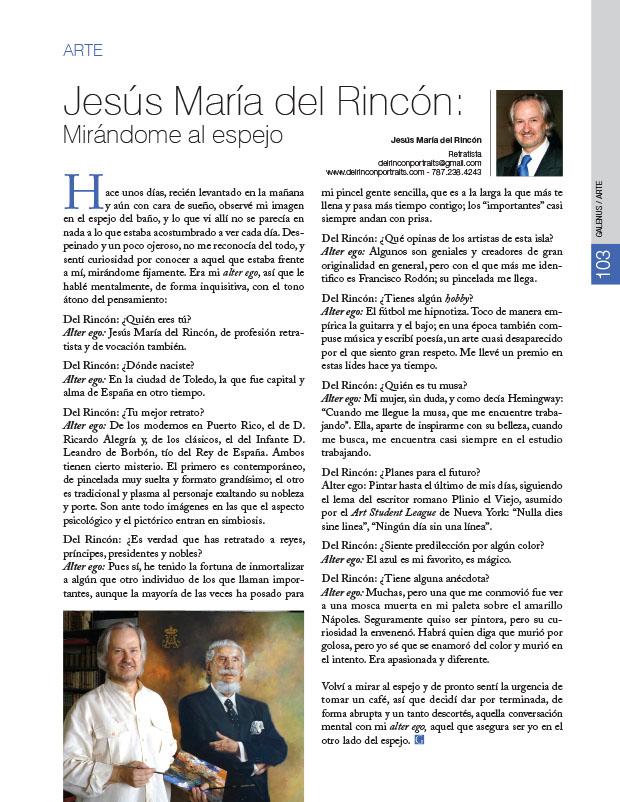 Arte: Jesús María del Rincón: Mirándome al espejo