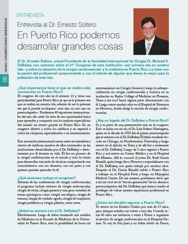 Entrevista al Dr. Ernesto Soltero: En Puerto Rico podemos desarrollar grandes cosas