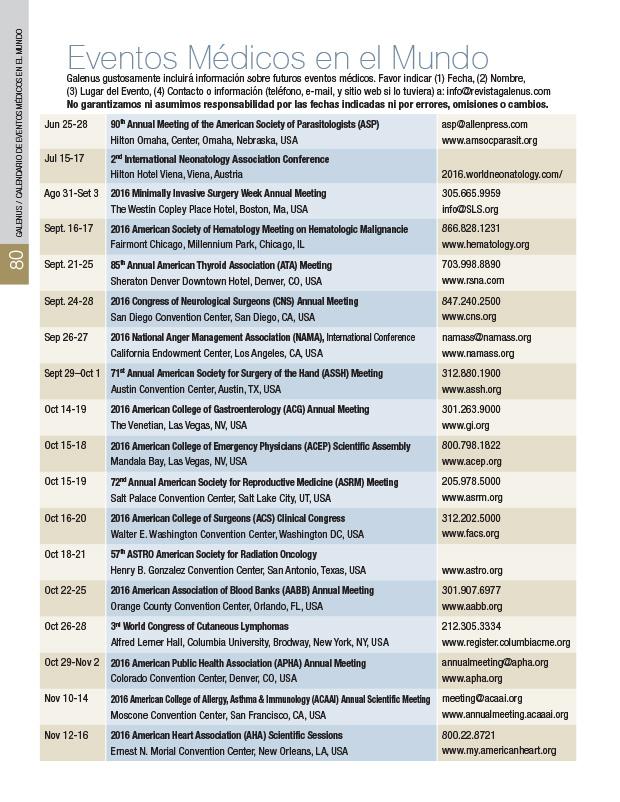 Eventos Medicos en el Mundo