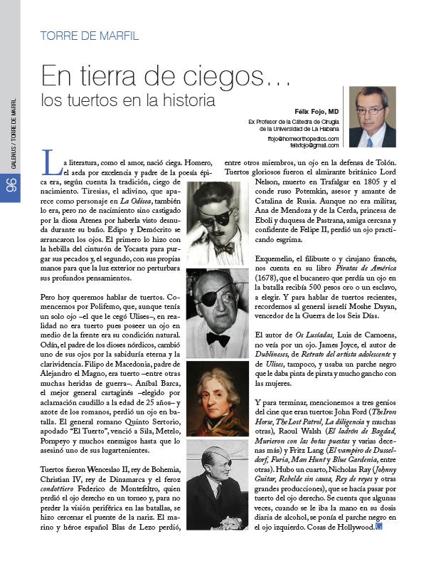 Torre de Marfil: En tierra de ciegos… los tuertos en la historia